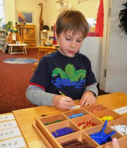 student learning nashoba montessori lancaster ma